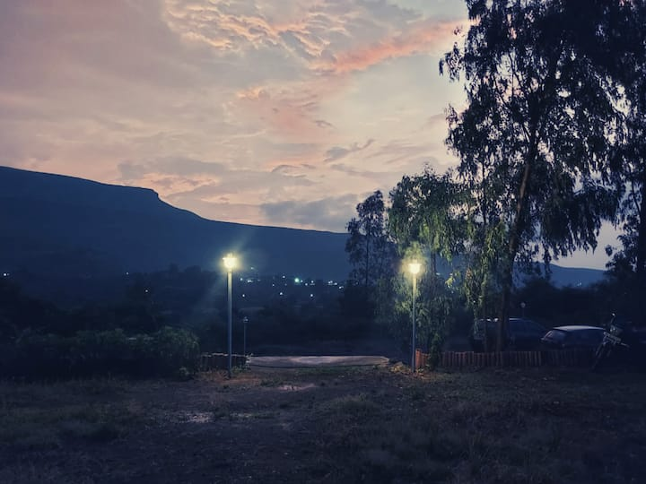 Takshashila Hill camping.( river view)