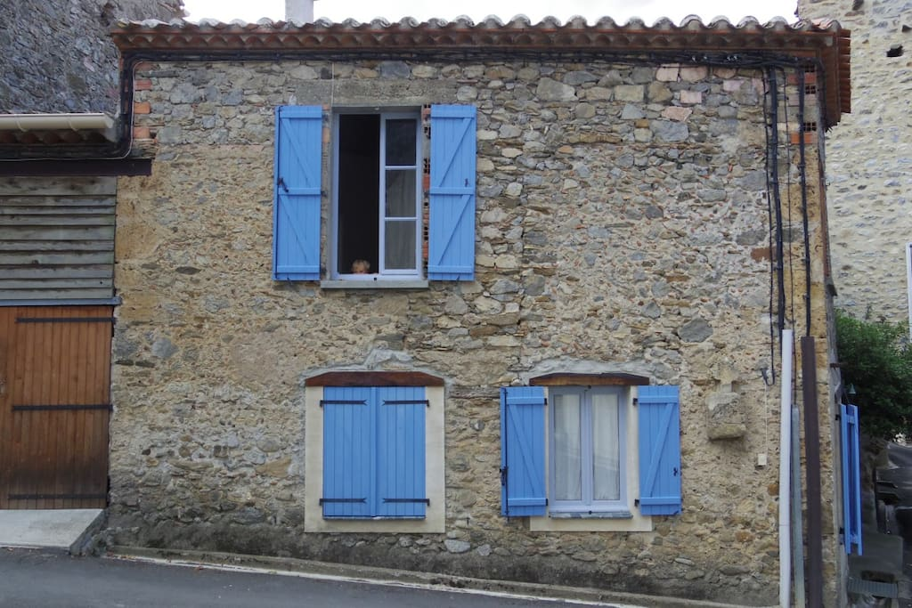 Blue shutters side view