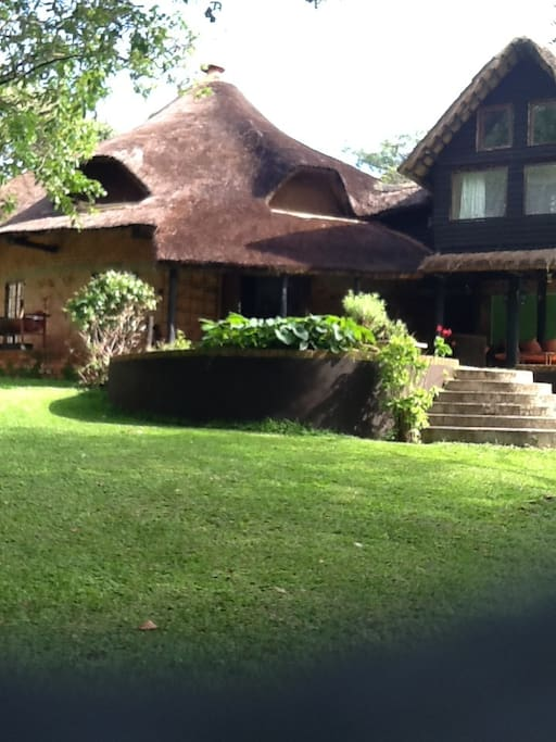 thatched character home