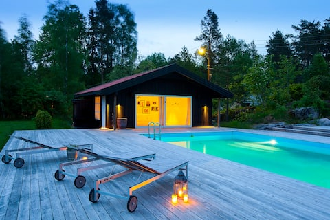 The Pool Bungalow-sea view near Oslo- PRIVATE POOL
