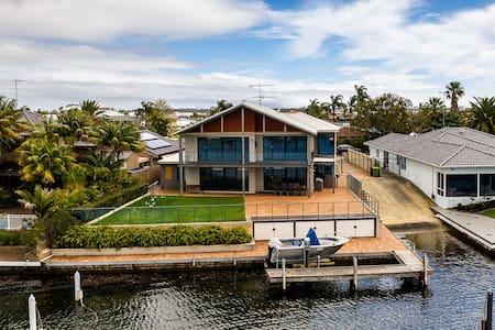 Large luxury home with private jetty