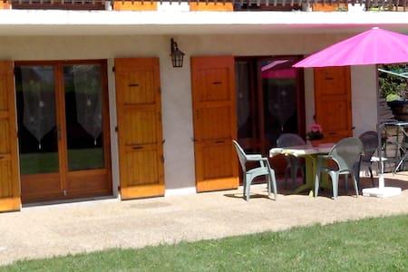 Studio 4p terrasse et pelouse vue sur le Vercors