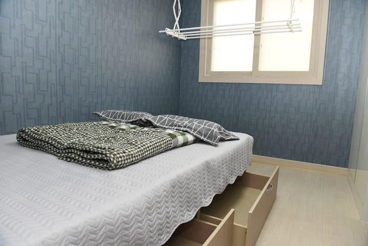 편안한 휴식과 숙면을 위한 미니펜션형 독립공간, 여행 및 출장시 최적(더블사이즈 침대)