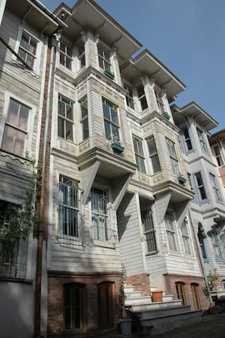 Authentic Ottoman timber house in central Istanbul