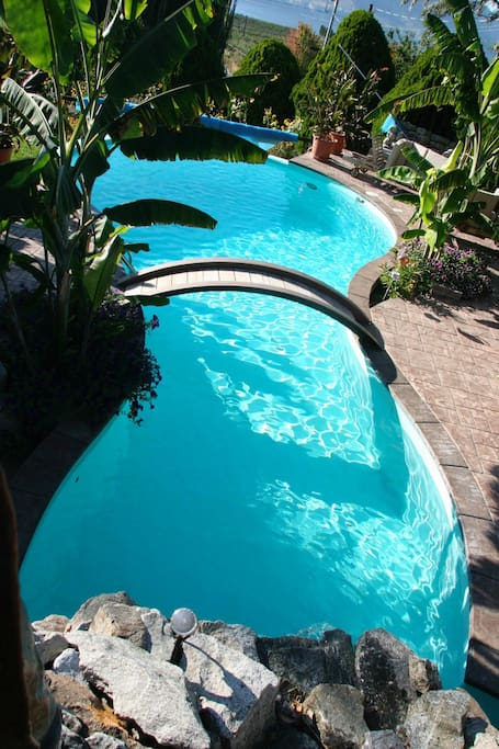 Pool shared with others on the property