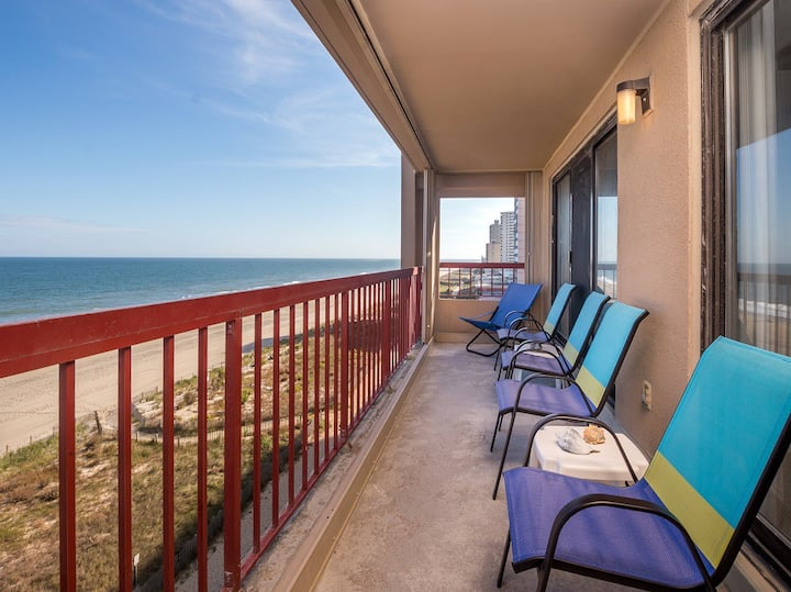 Rainbow 502 - Direct Oceanfront w/ Pool!