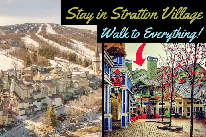 Ski On/Off Condo in the Heart of Stratton Village!