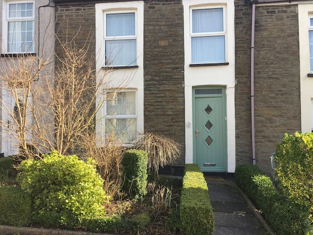 Double room situated in Rhiwderin village