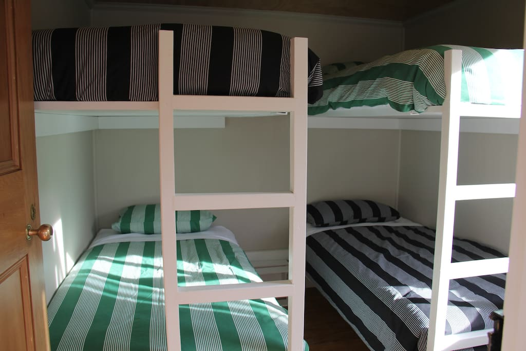 Each bunk room sleeps 4. Duvets and linen are provided.