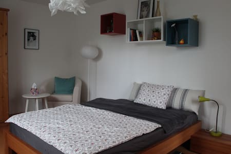 Originelles 1.5 Zimmer-Studio mit Gartensitzplatz - Möhlin - Apartment