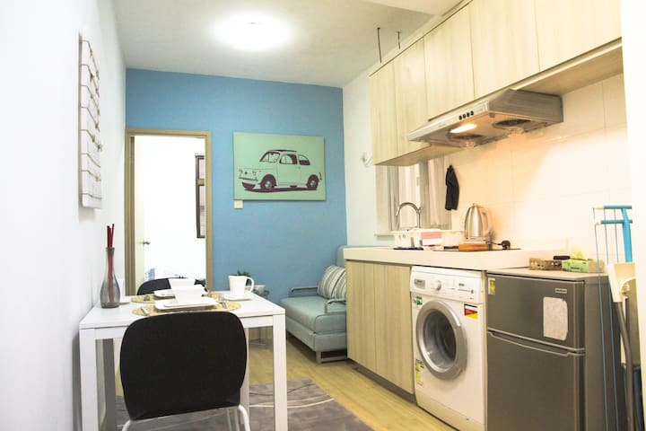 Time Square 1 br brand new charming CWB WC relax