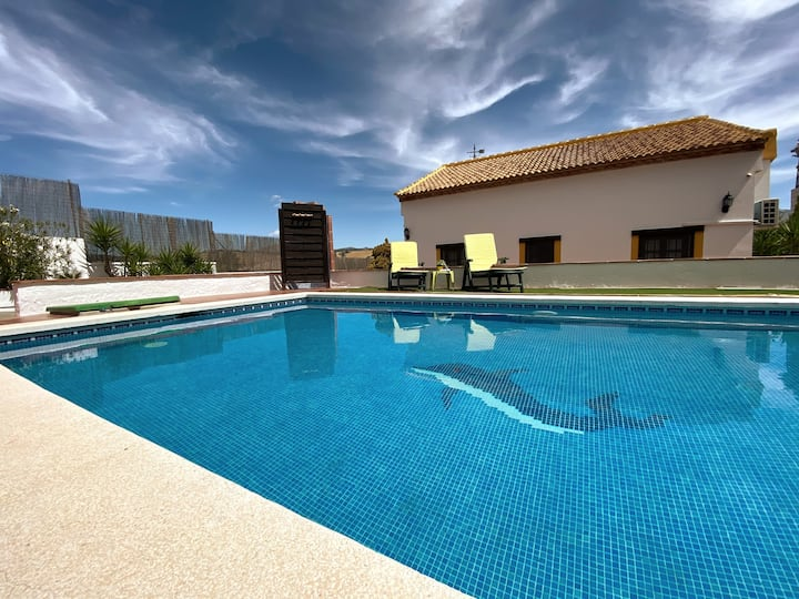 ☆☆☆☆☆ House whith private pool, relax on vacation.