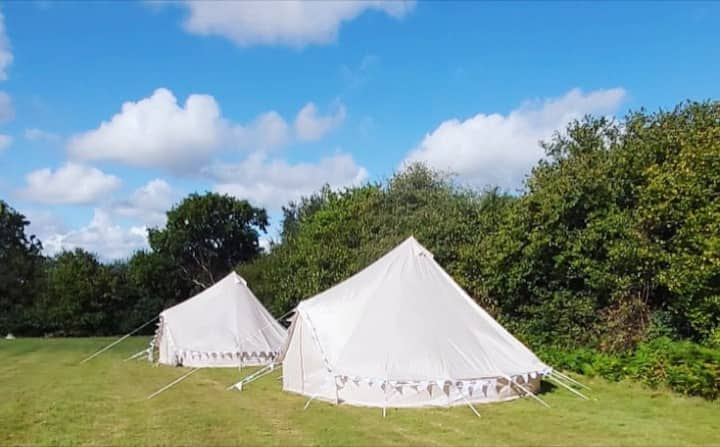 Hopgarden Glamping lovely Bell tents peaceful spot