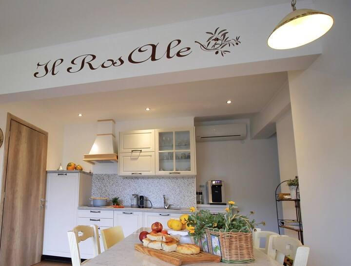 Il RosAle, appartamento con giardino vista mare