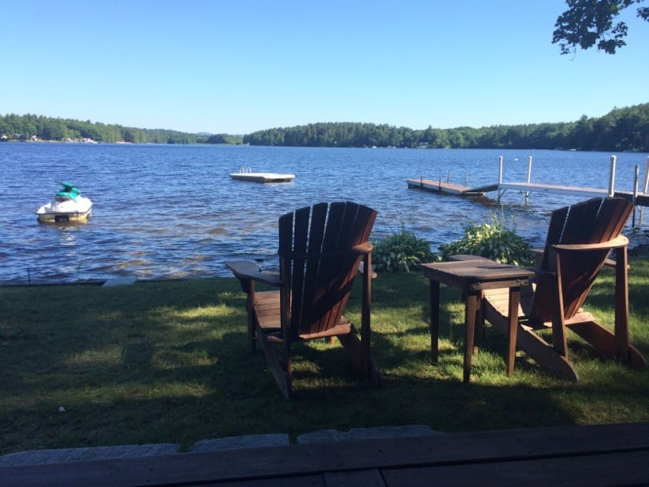 View of the lake from the back porch- relax and enjoy the view!