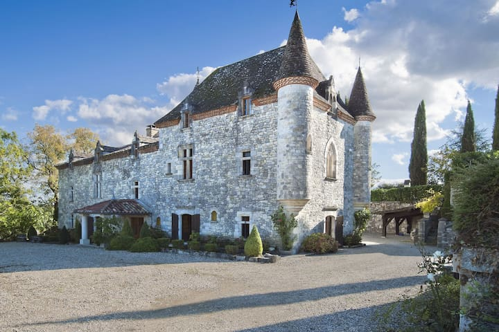 Relax in style and luxury in a superb castle with privat pool, Jacuzzi and sauna
