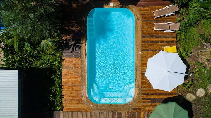 Enorme villa de playa 5BR con piscina