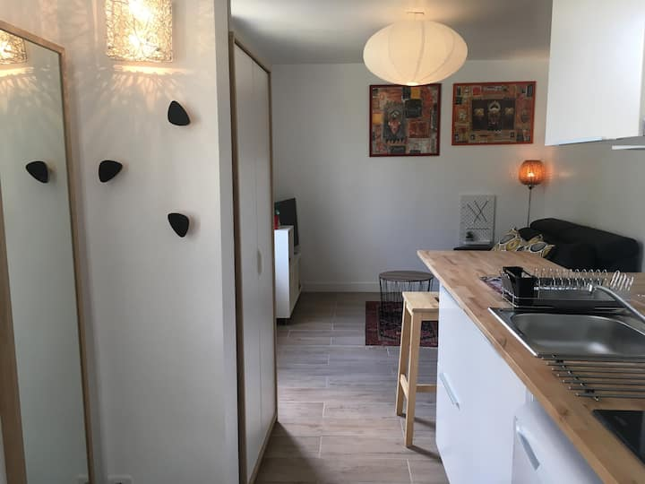 Studio Cosy Pontoise 🌳🌸 petit jardin & netflix