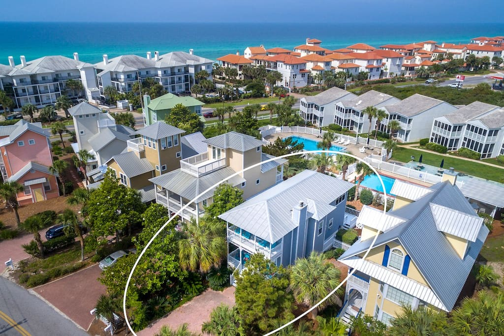 Lovely 30-A Beach House is just steps away from the Beach!