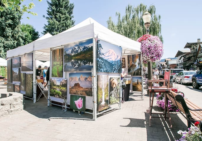 Enjoy the Art in the Park in downtown Leavenworth showcasing our local artists