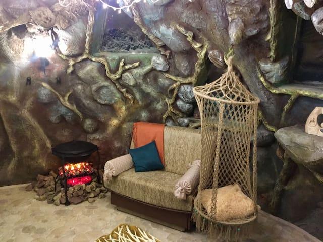 Дом - пещера. Квест отель.
