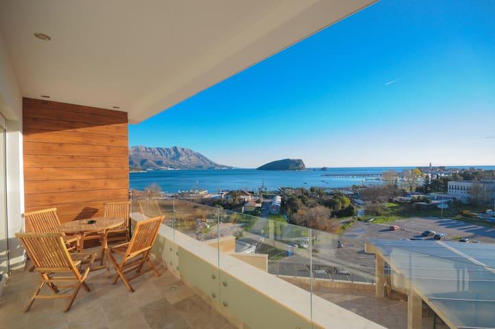 Sea view, studio, 3 persons, 50m to beach(230) - Budva - Apartment
