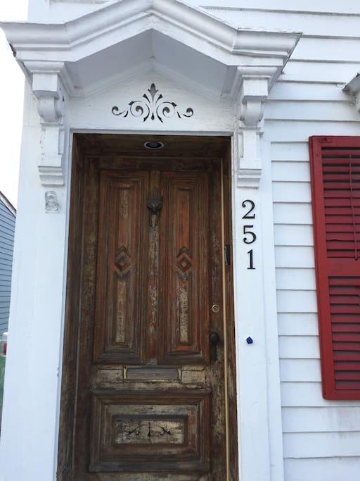 vintage front door Red Fox knocker