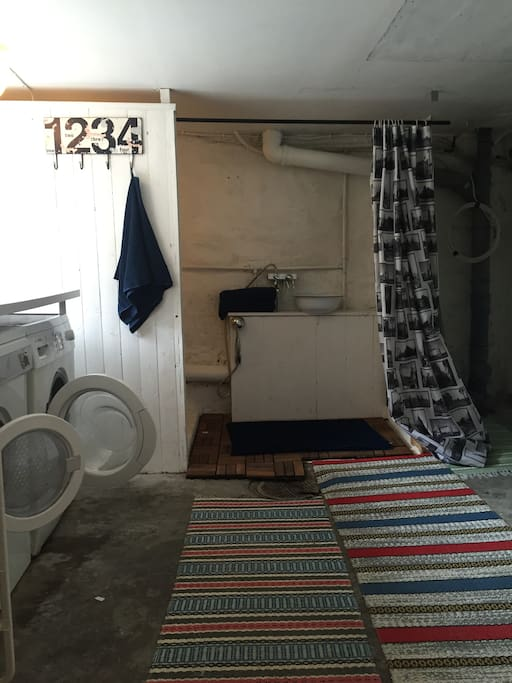 Bathroom, washer and dryer