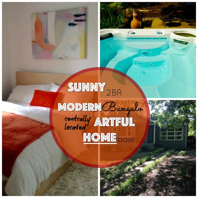 Sunny Modern 2BR Home with hot tub - centrally located!