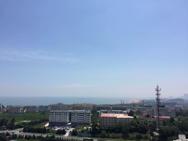 客厅阳台上拍的照片,离海的直线距离约500米