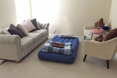 Airbed in living room near Tysons Corner - McLean