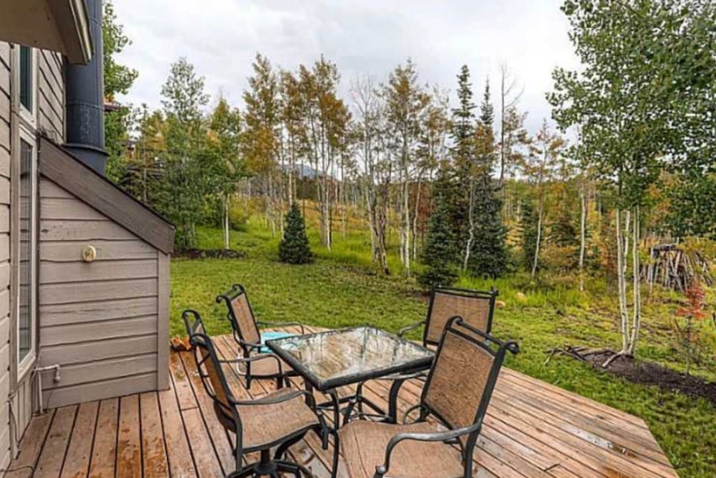 Backyard that backs up to national forest.