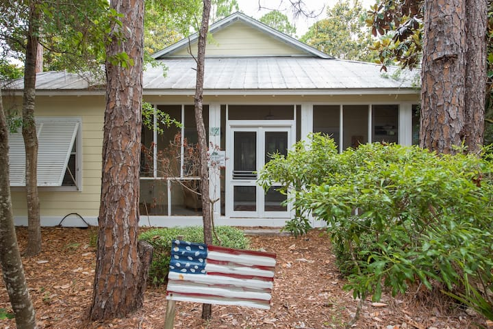 Seagrove Cottage - Outdoor Fireplace -Enclosed Porches- Pool/Tennis! - Starfish Wishes