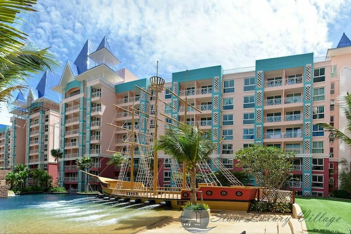 Bright 1-bed@Grande Caribbean Condo Resort Pattaya