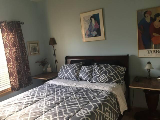 Private bedroom and semi private bath