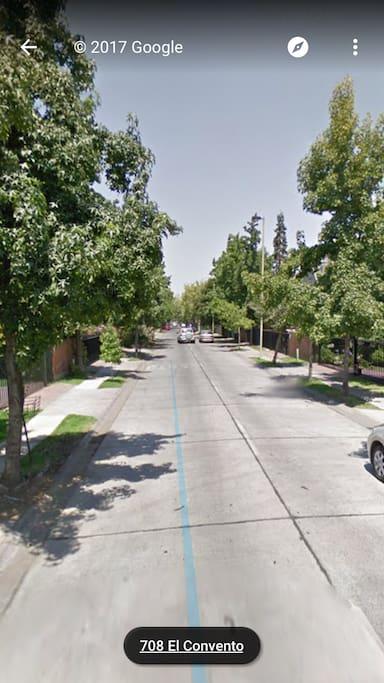 Foto de la calle el convento, en google street view se ve mejor