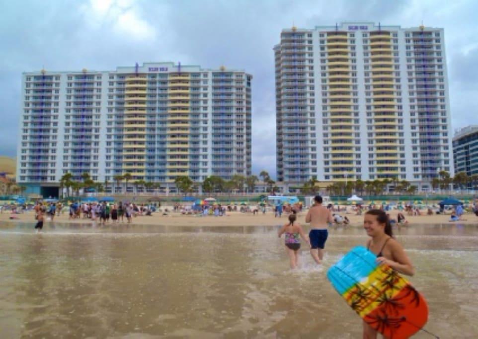 "Wyndham Ocean Walk Resort on the ""World's Most Famous Beach""  Daytona Beach Florida"