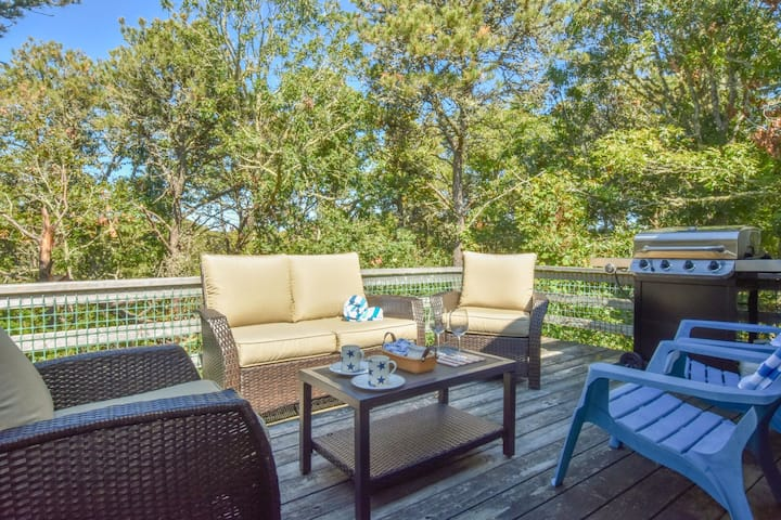 #630: Very Clean Home, Deck w/ Nice Furniture, Private Yard, Foosball, Central A/C - Walk to Nantucket Sound!