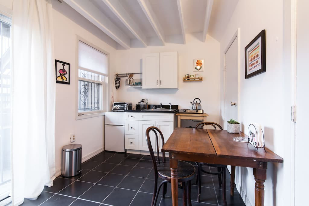 Kitchenette right in your room