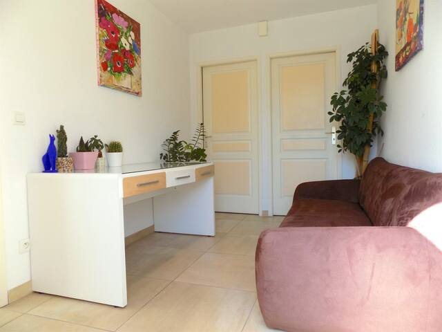 F2,Jardin- Parking- WIFI - Perpignan Sud-7mn plage - Perpignan - Appartement