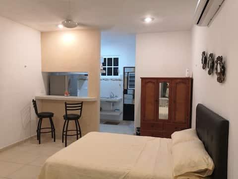 Acogedor Estudio en el centro de todo en Cozumel