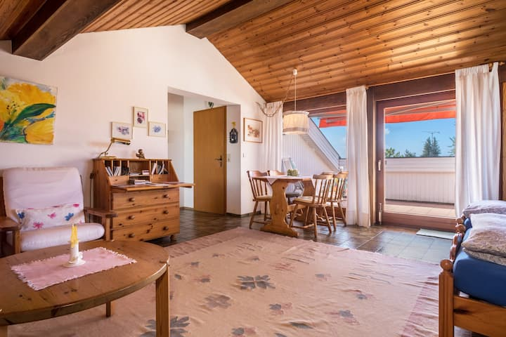 """Cosy Apartment """"Haus Kempkens"""" on Lake Constance with Lake View, Mountain View, Wi-Fi & Balcony; Parking Available"""