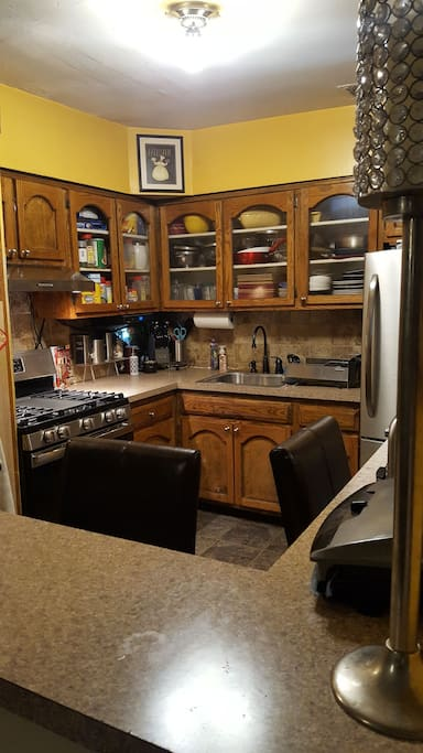 Kitchen area.. Complete with Flat screen tv