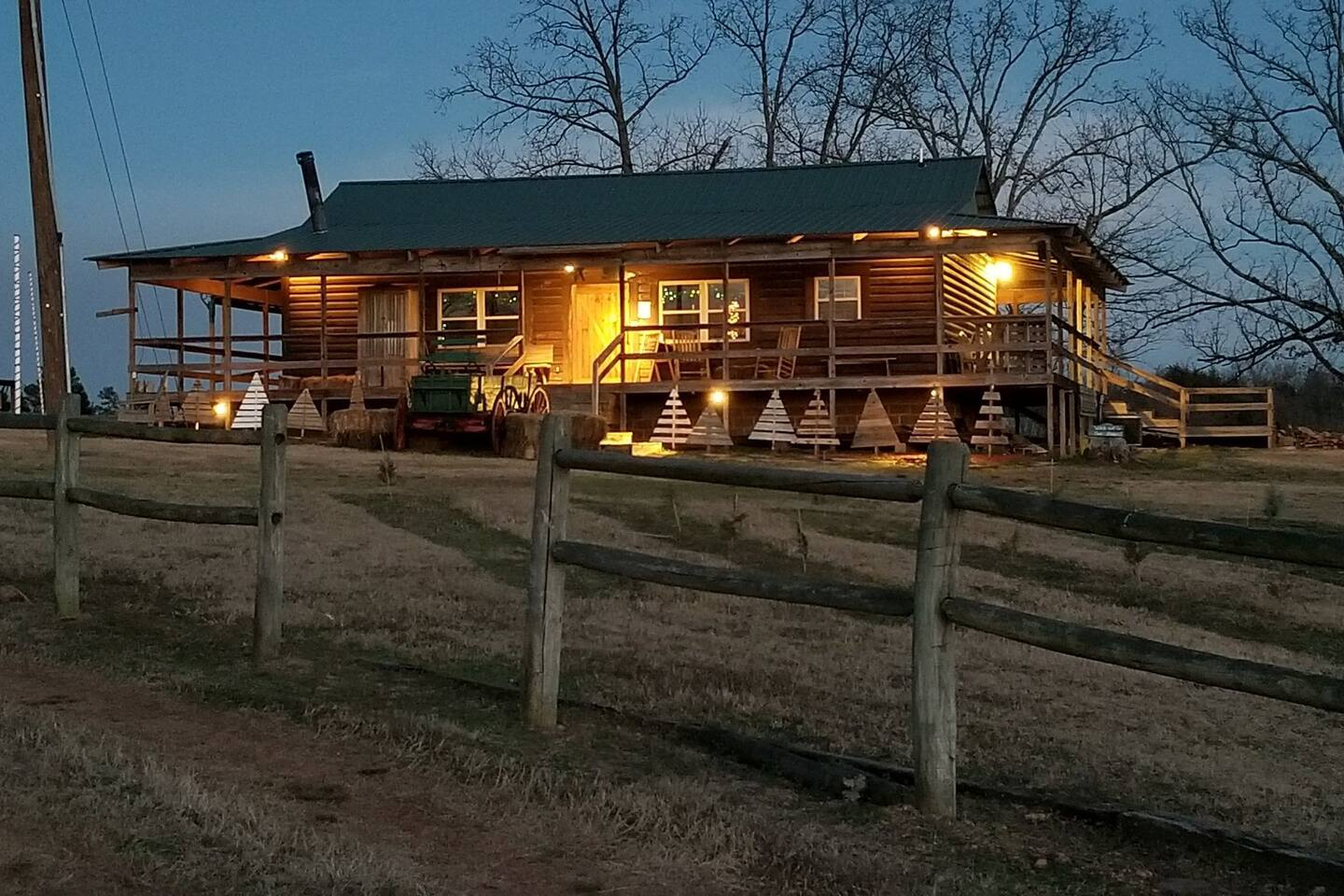 The Christmas Cabin...waiting for your family.