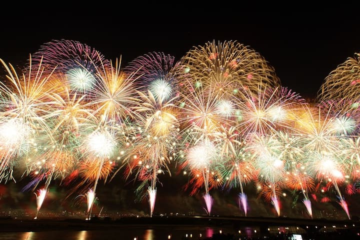 Venue to the Nagaoka Fireworks show  is accessible by train from nearest Tokamachi station or by car (about an hour drive away)