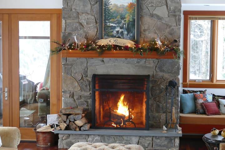Cozy Fire in living room