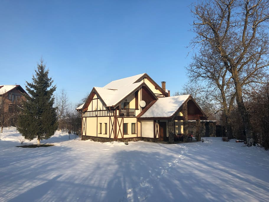 Our beautiful holiday house in winter