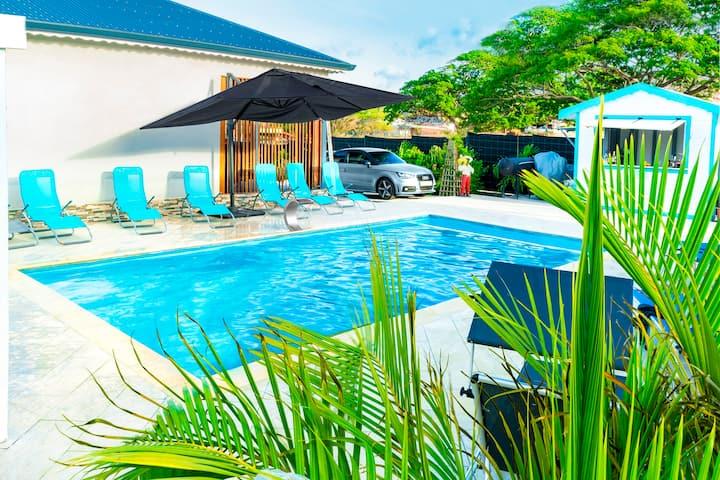 CôtéMer • Villa Tropicale avec piscine • 5mn plage