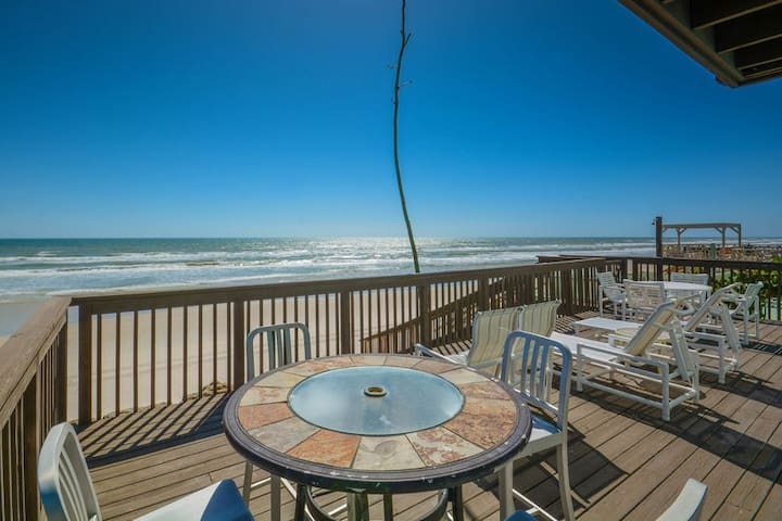 Fabulous oceanfront beach home. Located on car free beach.  6865S