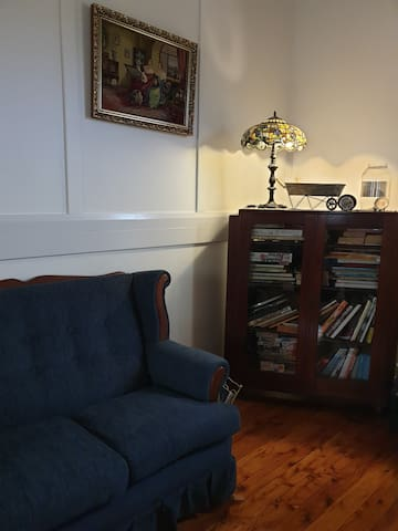 Enjoy reading one of the books in the reading nook.